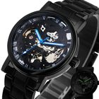 Black Mens New Black Men's Skeleton Automat