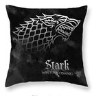 Game of Thrones Povlak na polštářek Hra o Trůny Stark Black/Gray