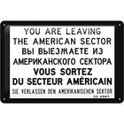 Nostalgic Art Plechová cedule-You Are Leaving the American Sector