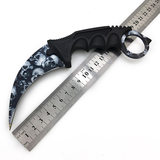 High Life Karambit Black Skulls