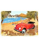 Nostalgic Art Plechová cedule - VW Beetle Ready for the Beach