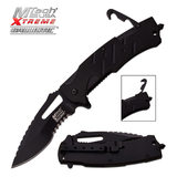 MTech M-Tech USA Extreme MX-A846BK SPRING ASSISTED RESCUE KNIFE