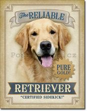 Nostalgic Art Plechová cedule - The Reliable Retriever