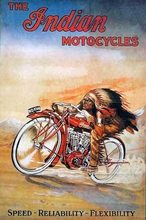 Retro Plechová cedule The Indian Motocycles
