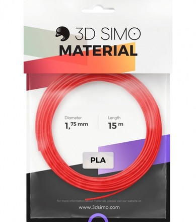 3DSimo s.r.o 3DSimo Filament PLA II - red, purple, green 15m