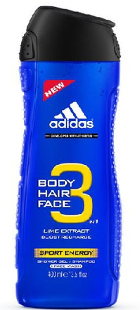 Adidas Adidas 3in1 Sport Energy Sprchový gel 400ml M