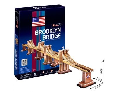 Cubic Fun 3D Puzzle Brooklin Bridge 64 dílků