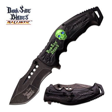 Dark Side Blades DARK SIDE BLADES DS-A044GN SPRING ASSISTED KNIFE