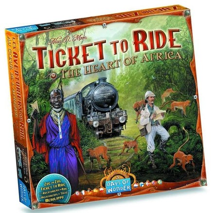 Days of Wonder Ticket to Ride  - Map Collection - The Heart of Africa