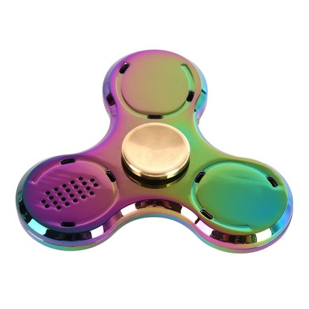 Fidget Spinner Fidget spinner s LED + Bluetooth Music Rainbow
