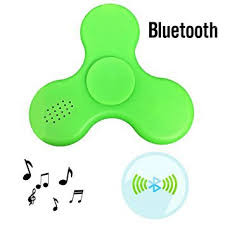 Fidget Spinner Fidget spinner s LED + Bluetooth Music zelený