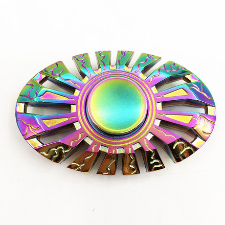 Fidget Spinner Kovový Fidget Spinner Enterprise Rainbow