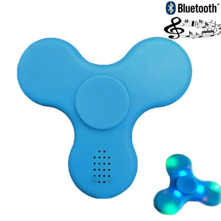 Fidget Spinner Fidget spinner s LED + Bluetooth Music modrý