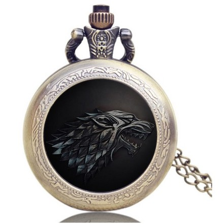 Game of Thrones Hodinky na krk Hra o trůny Stark Black