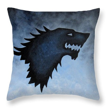 Game of Thrones Povlak na polštářek Hra o Trůny Stark Blue/Black