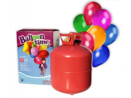 Happy Birthday Helium Balloon Time + 50 barevných balónků mix