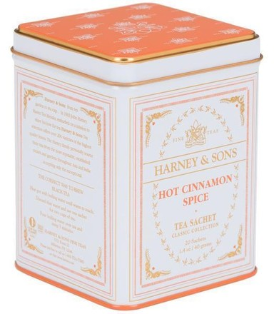 HARNEY & SONS Hot Cinnamon spice - White Tin Classic