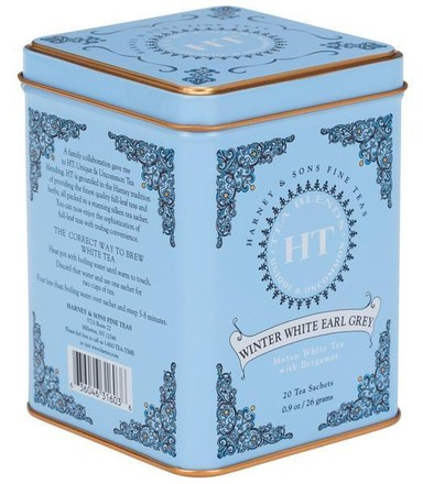 HARNEY & SONS Winter White Earl Grey HT kolekce - čaj 20ks