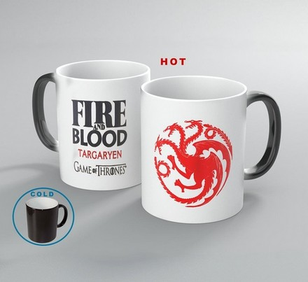 Game of Thrones Magický hrnek Targaryen red/white