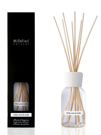 Millefiori Milano Natural Difuzér 250ml/White Mint & Tonka