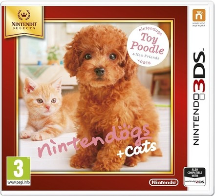 Nintendo 3DS Nintendogs+Cats-Toy Poodle&new Friends Select