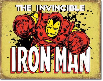 Nostalgic Art Plechová cedule - The Invincible Iron Man (2)