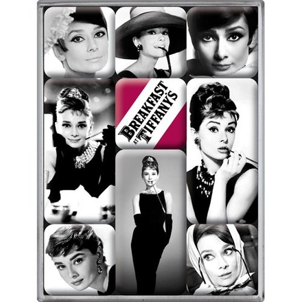 Nostalgic Art Sada magnetů Breakfast at Audrey Hepburn Tiffany's