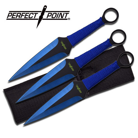 """Perfect Point PERFECT POINT PP-869-3BL THROWING KNIFE SET 9"""""""
