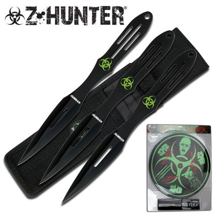 "Z Hunter Z HUNTER ZB-050BK THROWING KNIFE SET 9"" OVERALL"
