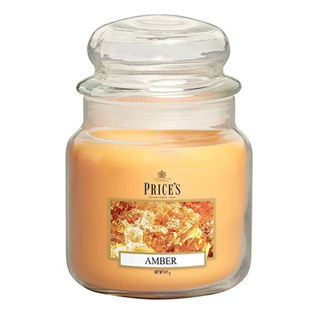 Price\'s Candles Price's Candles Scented candle in MEDIUM GLASS JAR with glass lid Amber