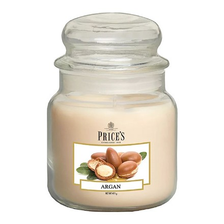 Price\'s Candles Price's Candles Scented candle in MEDIUM GLASS JAR with glass lid Argan