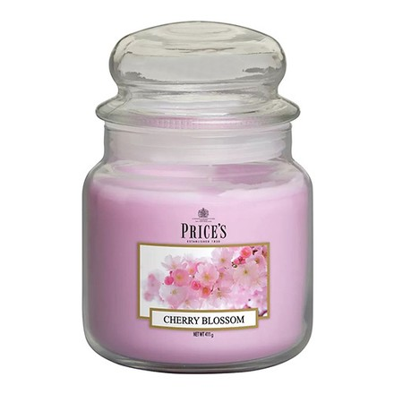 Price\'s Candles Price's Candles Scented candle in MEDIUM GLASS JAR with glass lid Cherry Blossom