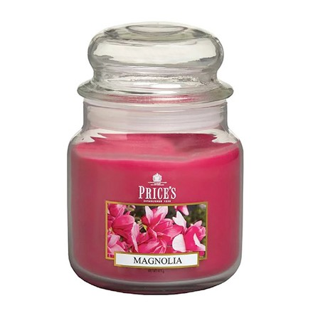Price\'s Candles Price's Candles Scented candle in MEDIUM GLASS JAR with glass lid Magnolia