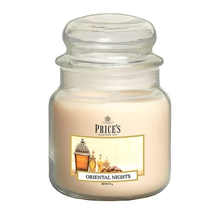 Price\'s Candles Price's Candles Scented candle in MEDIUM GLASS JAR with glass lid Oriental Nights