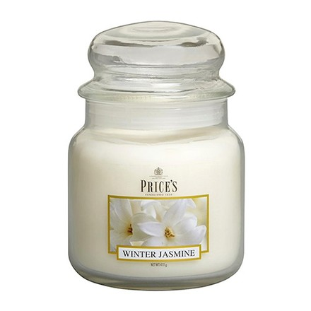 Price\'s Candles Price's Candles Scented candle in MEDIUM GLASS JAR with glass lid Winter Jasmine