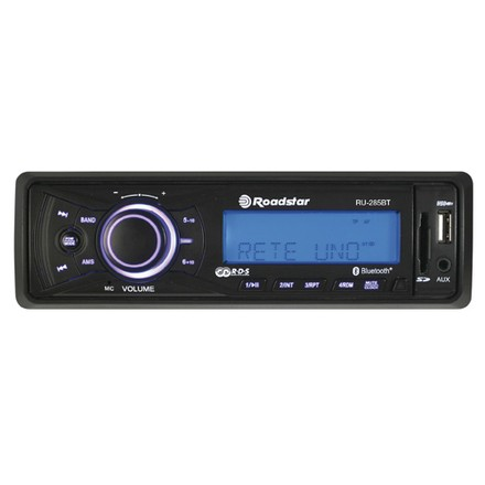 Roadstar Autorádio Roadstar RU-285BT, LCD displej, Bluetooth, USB port, slot SD, AUX