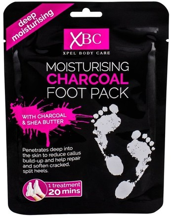 Xpel Xpel Body Care Moisturising Charcoal Foot Pack