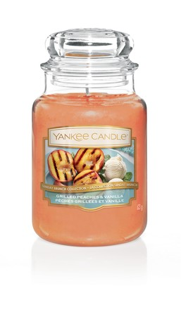 Yankee candle Grilled Peaches & Vanila 623 g Grilované broskve a vanilka