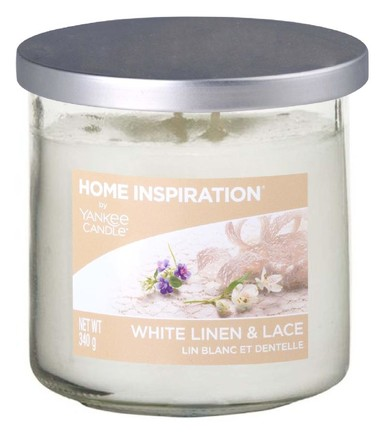 Yankee candle White Linen & Lace - YC.HI tumbler 2 knoty,340g