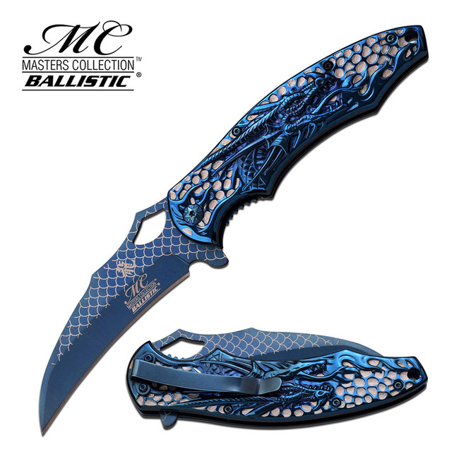 Master Cutlery MC-A037BL Spring Assisted Knife