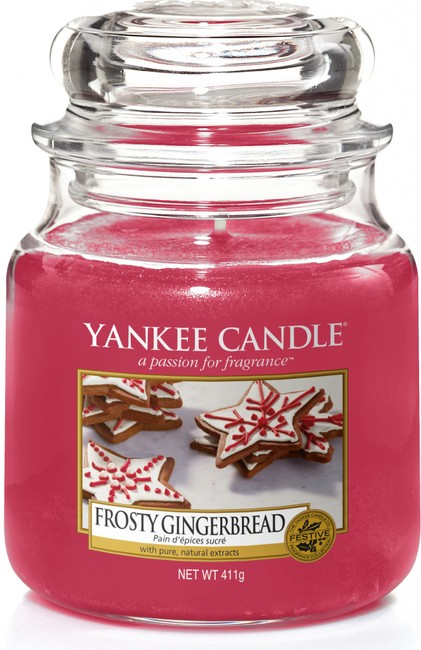 Yankee candle sklo2 Frosty Gingerbread