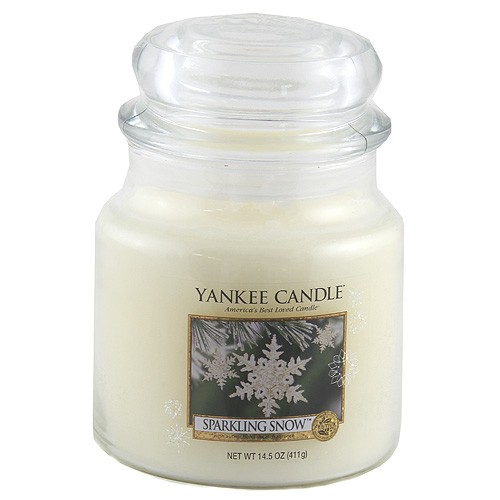 Yankee candle sklo2 Sparkling Snow